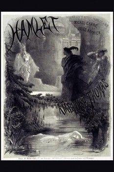 023. Ретро плакат западных стран: Hamlet. Poster by A. de Neuville