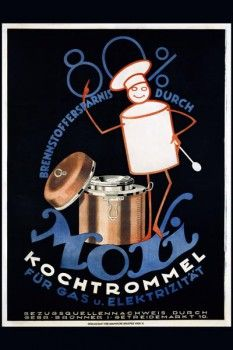 027. Ретро плакат западных стран: Moxi Kochtrommel. Poster