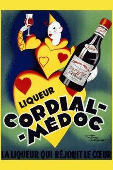 030. Ретро плакат западных стран: Cordial-Medoc. Poster by Henry Le Monnier