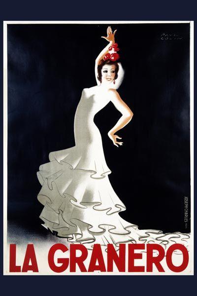 037. Ретро плакат западных стран: La Granero. Poster by Paul Colin