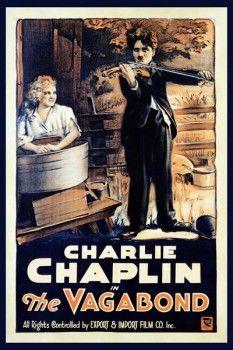 041. Ретро плакат западных стран: Poster for Charlie Chaplin in The Vagabond