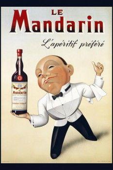 042. Ретро плакат западных стран: Le Mandarin. Poster Depicting a Waiter
