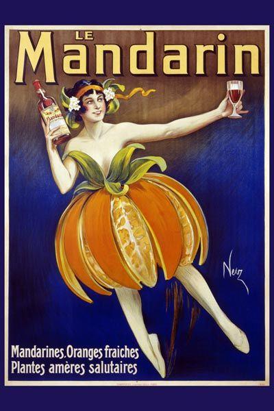 046. Ретро плакат западных стран: Le Mandarin. Poster