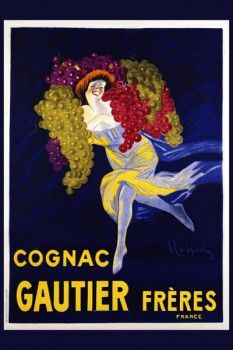 048. Ретро плакат западных стран: Cognac Gautier Freres. Poster by Leonetto Cappiello