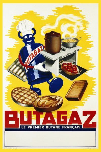 049. Ретро плакат западных стран: Butagaz. Poster by Creation Vox-Publicite