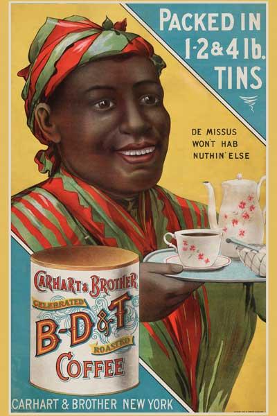 050. Ретро плакат западных стран: B-D@T Coffee