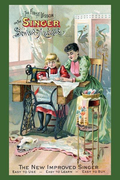 051. Ретро плакат западных стран: Of Singer Sewing Machine Manual