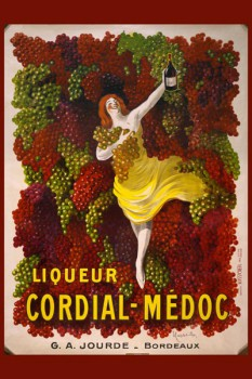 052. Ретро плакат западных стран: Liquer Cordial-Médoc, G. A. Jourde - Bordeaux