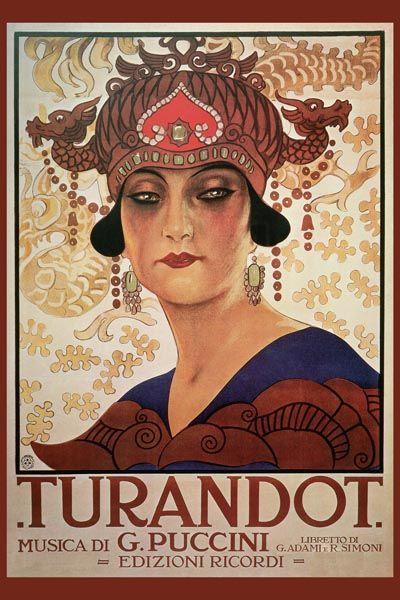 053. Ретро плакат западных стран: Poster for the Puccini Opera Turandot