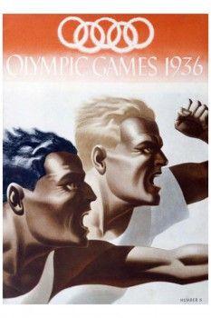 057. Ретро плакат западных стран: Poster for the 1936 Olympic Games