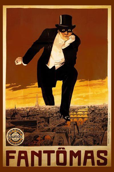 058. Ретро плакат западных стран: Poster for Phantom of the Opera in Paris