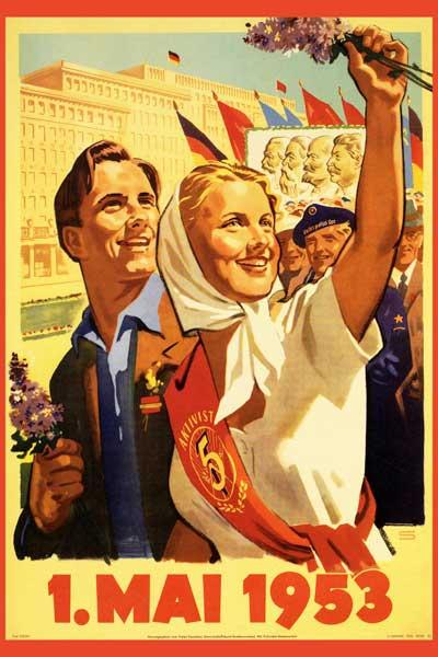 063. Ретро плакат западных стран: 1. Mai 1953