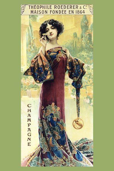 066. Ретро плакат западных стран: Theophile Roederer Champagne Poster