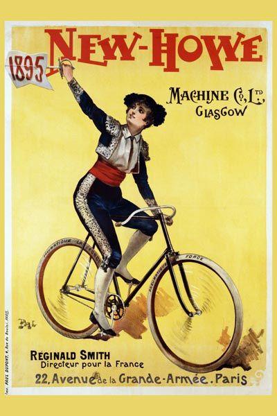 070. Ретро плакат западных стран: New Howe Poster by Pal