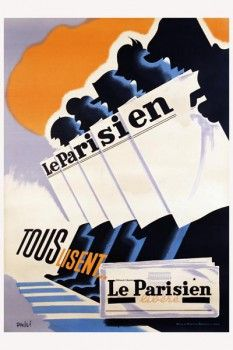071. Ретро плакат западных стран: Le Parisien Poster by Phili