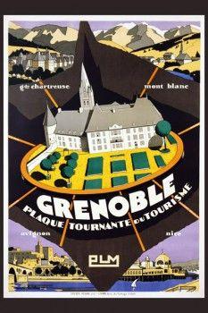 075. Ретро плакат западных стран: Grenoble Poster by Maurice Barbey