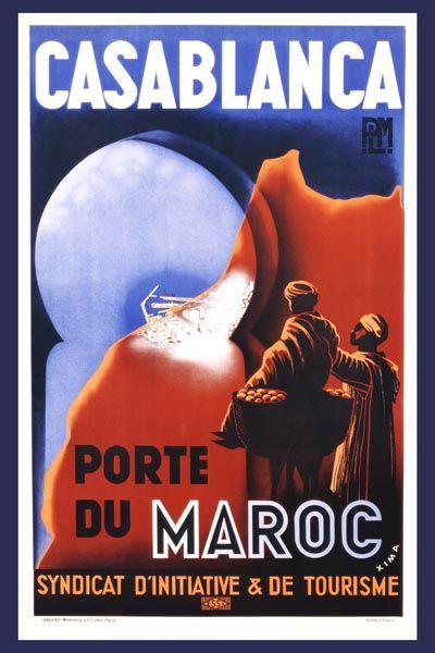 080. Ретро плакат западных стран: Casablanca. Poster by Xima