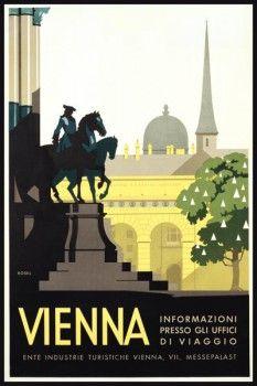 081. Ретро плакат западных стран: Vienna. Poster by Kosel
