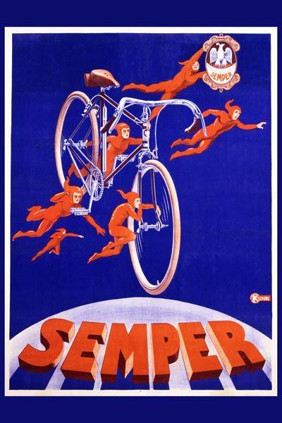 086. Ретро плакат западных стран: Semper. Poster