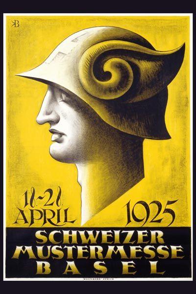 087. Ретро плакат западных стран: Schweizer Mustermesse Basel. Poster