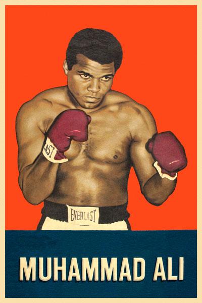 092. Ретро плакат западных стран: Muhammad Ali