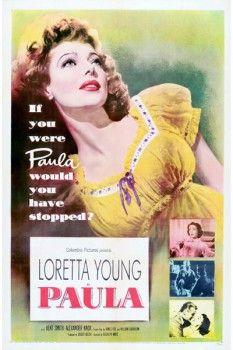 096. Ретро плакат западных стран: Loretta Young. Paula