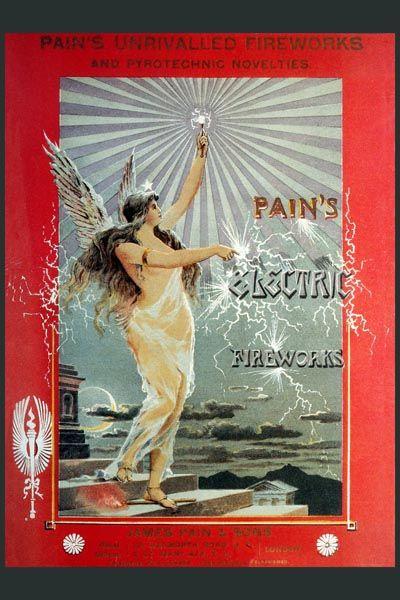 111. Ретро плакат западных стран: Pain`s Eektric Fireworks