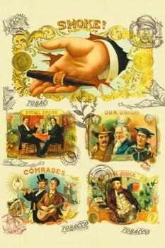 112. Ретро плакат западных стран: Smoke?