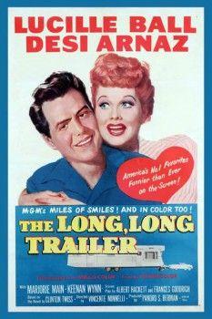 099. Ретро плакат западных стран: Lucille ball desi Arnaz. The long, long trailer