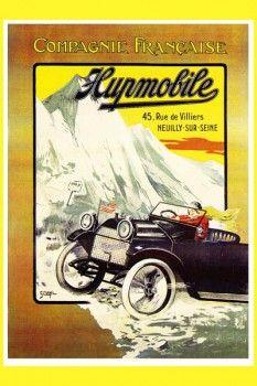113. Ретро плакат западных стран: Compagnie Francaise Hupmobile