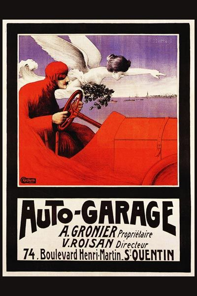 114. Ретро плакат западных стран: Auto-garage