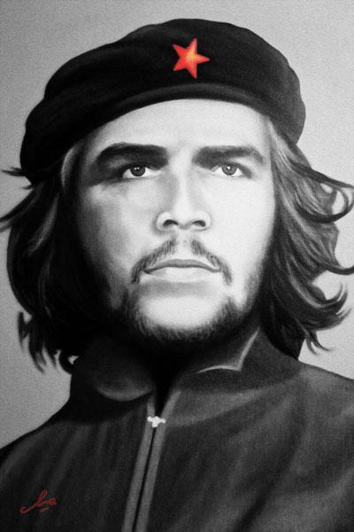 115. Постер: Ernesto Guevara, портрет карандашом