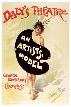 102. Ретро плакат западных стран: Daly`s theatre. An artist`so model
