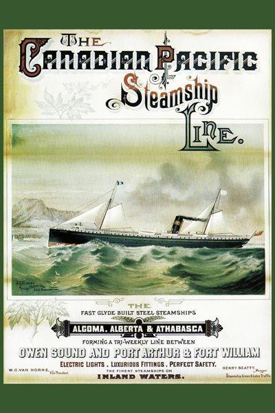 116. Ретро плакат западных стран: The Canadian Pacific. Steamship Line