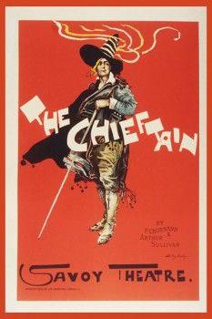 102. Ретро плакат западных стран: The Chieftain. Savoy Theatre