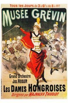 118. Ретро плакат западных стран: Musee Grevvin. Les Dames Hongroises