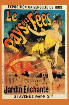 120. Ретро плакат западных стран: Le Pays des Fees. Jardin Enchante