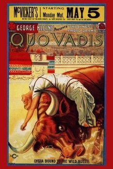 127. Ретро плакат западных стран: Quo Vadis