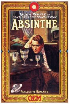 128. Ретро плакат западных стран: Glen white in gem`s great instructive play Absinthe