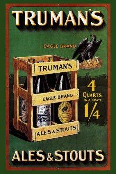 129. Ретро плакат западных стран: Truman`s Ales @ Stouts