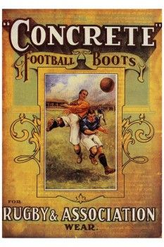 "130. Ретро плакат западных стран: ""Concrette"" football boots"