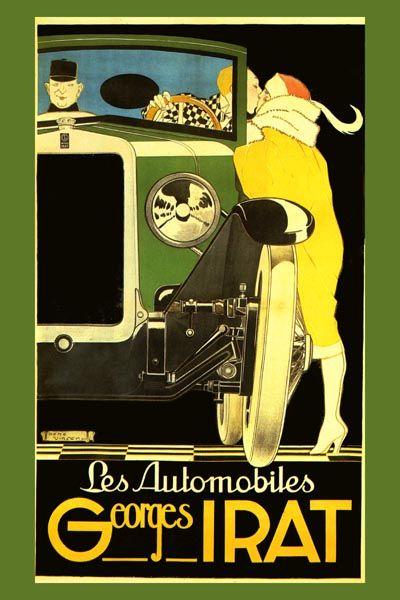 131. Ретро плакат западных стран: Les automobiles Georges Irat