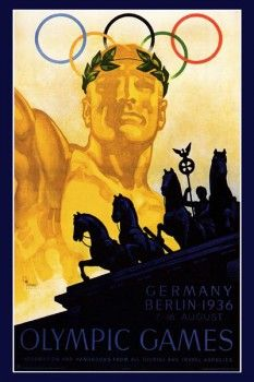 135. Ретро плакат западных стран: Olimpic games. Germany Berlin - 1936