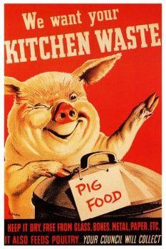 136. Ретро плакат западных стран: We wont your Kitchen waste