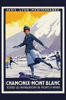 139. Ретро плакат западных стран: Chamonix-Mont Blank