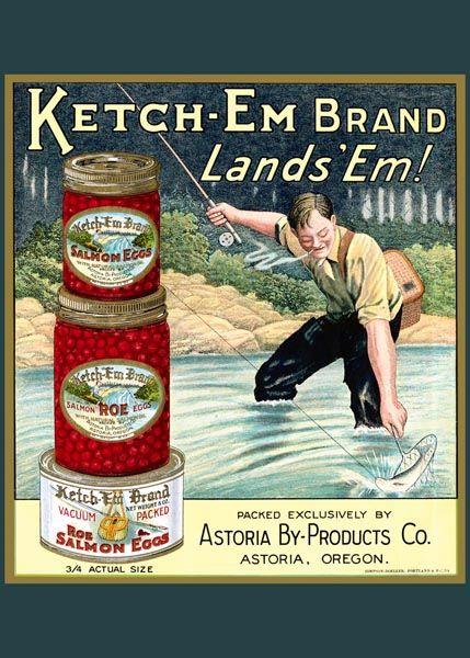 143. Ретро плакат западных стран: Ketch-Em Brand Lands`Em!