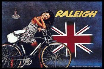 145. Ретро плакат западных стран: Raleigh