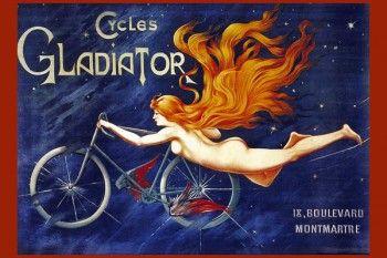 146. Ретро плакат западных стран: Cycles Gladiator