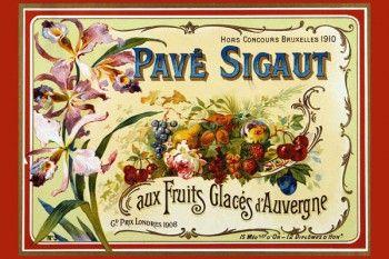 148. Ретро плакат западных стран: Advertisement for Sugared Fruits