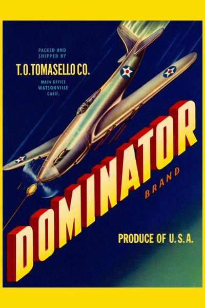 109. Ретро плакат западных стран: Dominator brand
